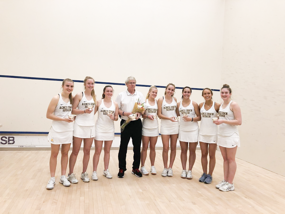 Agnes Irwin's Junior Varsity Squash Team at National Championships