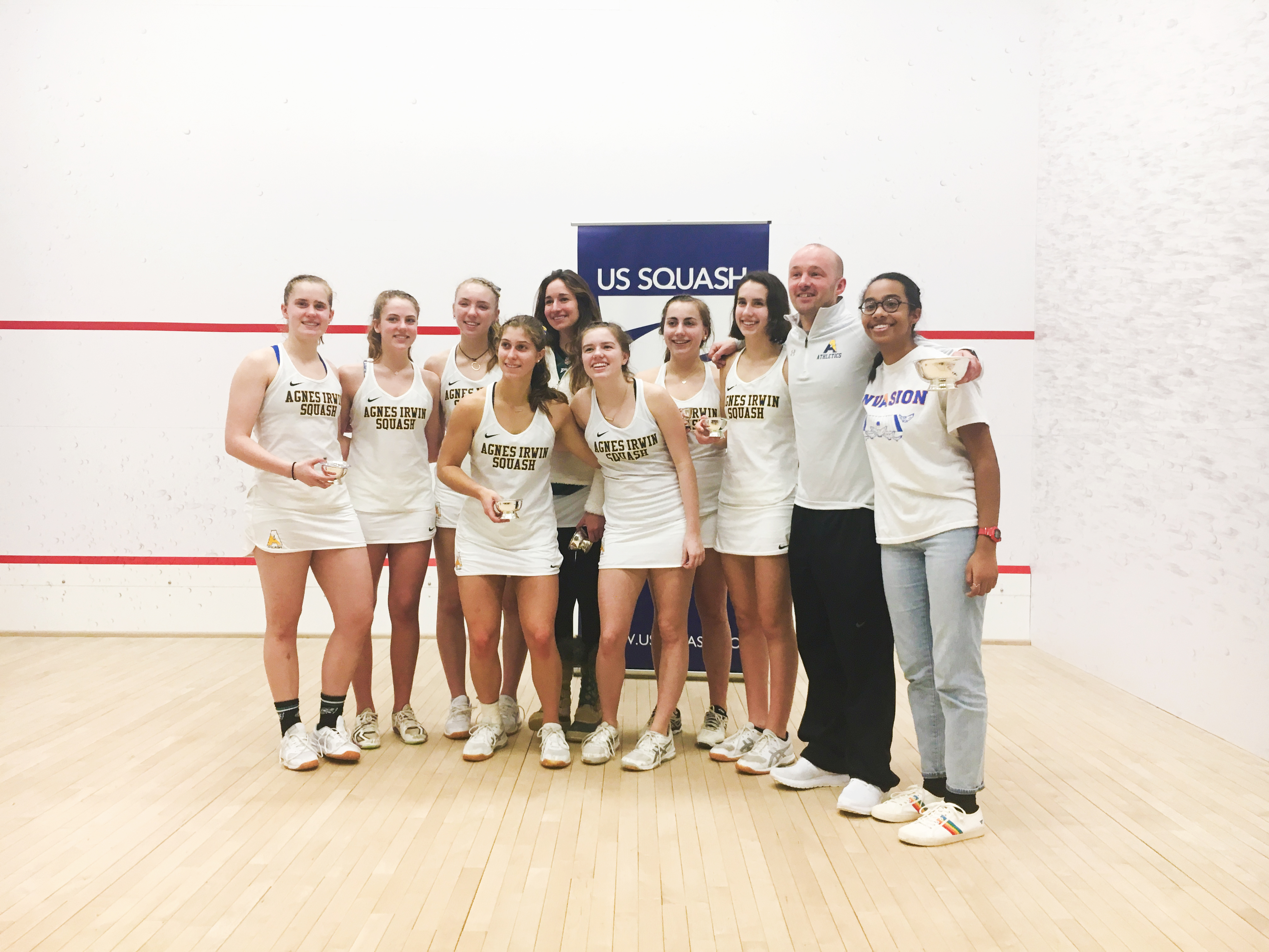 Agnes Irwin's Varsity Squash Team at National Championships